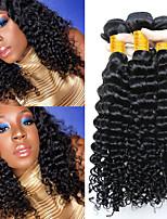 Недорогие -6 Связок Индийские волосы Кудрявый Натуральные волосы Человека ткет Волосы / Накладки из натуральных волос 8-28 дюймовый Ткет человеческих волос Машинное плетение