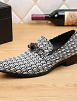 Недорогие -Муж. Официальная обувь Кожа Лето Удобная обувь / Формальная обувь Мокасины и Свитер Белый