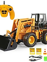 cheap -RC Car 6CH 2.4G Bulldozer / Construction Truck 1:20 Brush Electric KM/H
