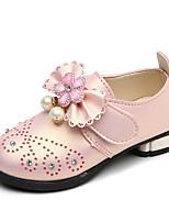 Недорогие -Девочки Обувь Полиуретан Весна лето Детская праздничная обувь На плокой подошве Для прогулок для Дети Красный / Розовый