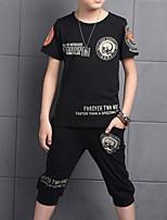 Недорогие -Дети Мальчики Классический С принтом С короткими рукавами Набор одежды