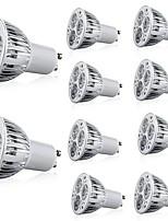 Недорогие -10 шт. 5 W 400 lm GU10 Точечное LED освещение 3 Светодиодные бусины Высокомощный LED Декоративная Тёплый белый / Холодный белый 85-265 V