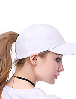 cheap -Women's Active / Holiday Baseball Cap - Solid Colored Cut Out