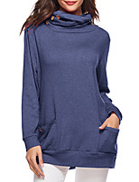 cheap -Women's Basic / Sophisticated Sweatshirt - Solid Colored