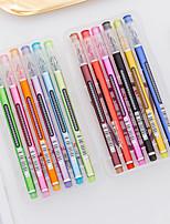 cheap -Gel Pen Pen Pen, Plastics Multi-Color Ink Colors For School Supplies Office Supplies Pack of 12 pcs