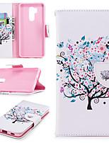 preiswerte -Hülle Für LG G7 Geldbeutel / Kreditkartenfächer / mit Halterung Ganzkörper-Gehäuse Baum Hart PU-Leder für LG G7