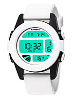 cheap -SYNOKE Men's Women's Sport Watch Digital Watch Digital 50 m Water Resistant / Water Proof Calendar / date / day Chronograph PU Band Digital Casual Fashion White / Blue / Brown - Brown Green Blue