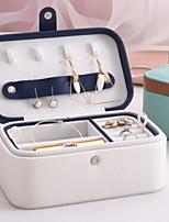 billiga -PU läder Rektangulär Häftig Hem Organisation, 1st Smyckesförvaring / Makeupförvaring