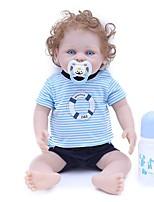 Недорогие -OtardDolls Куклы реборн Мальчики 18 дюймовый как живой, Искусственные имплантации Голубые глаза, Гофрированные и запечатанные ногти Детские Мальчики Подарок