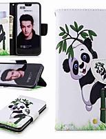 preiswerte -Hülle Für Huawei Honor 10 / Honor 7A Geldbeutel / Kreditkartenfächer / mit Halterung Ganzkörper-Gehäuse Panda Hart PU-Leder für Honor 7X / Honor 7C(Enjoy 8) / Honor 6X