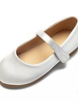 cheap -Girls' Shoes Satin Spring & Summer Ballerina / Flower Girl Shoes Flats Rhinestone / Bowknot / Buckle for Kids White / Ivory / Wedding