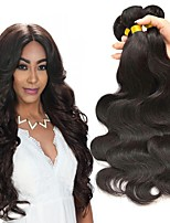 cheap -Malaysian Hair Body Wave Gifts / Cosplay Suits / Natural Color Hair Weaves 4 Bundles 8-28 inch Human Hair Weaves Soft / New Design / Hot Sale Natural Black Human Hair Extensions Women's