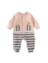 cheap -Baby Girls' Striped Long Sleeve Overall & Jumpsuit