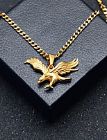 cheap -Men's Stylish / Cuban Link Pendant Necklace / Chain Necklace - Stainless Eagle Stylish, European, Hip-Hop Gold 60 cm Necklace 1pc For Gift, Street