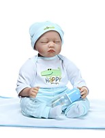 cheap -NPKCOLLECTION Reborn Doll Baby Boy 24 inch lifelike, Hand Applied Eyelashes, Tipped and Sealed Nails Kid's Boys' Gift / Natural Skin Tone / Floppy Head