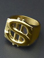cheap -Men's Stylish Ring - Stainless Dollars European, Trendy, Hip-Hop 9 / 10 / 11 Gold For Street / Holiday