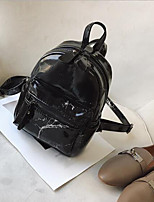 Недорогие -Жен. Мешки PU рюкзак Молнии Белый / Черный