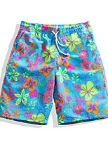 cheap -Men's Swim Shorts Ultra Light (UL), Quick Dry, Breathable POLY Swimwear Beach Wear Board Shorts / Bottoms Floral / Botanical Surfing / Beach / Watersports