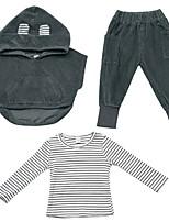 Недорогие -Дети (1-4 лет) Мальчики Классический Однотонный Длинный рукав Набор одежды