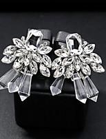 cheap -Women's Stylish Drop Earrings - Creative, Flower Simple, European, Fashion Silver For Wedding / Daily
