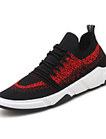 cheap -Men's Mesh / Elastic Fabric Fall Comfort Sneakers Color Block Gray / Black / White / Black / Red