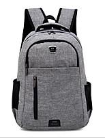cheap -Unisex Bags Nylon School Bag Zipper Black / Red / Gray