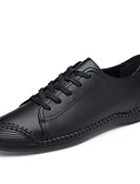 cheap -Men's Comfort Shoes Nappa Leather Spring / Summer Sneakers Black / Blue