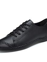 Недорогие -Муж. Комфортная обувь Наппа Leather Весна / Лето Кеды Черный / Синий