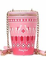 preiswerte -Damen Taschen PU Umhängetasche Reißverschluss Rote / Rosa / Gelb