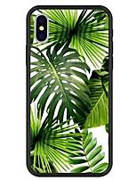 baratos -Capinha Para Apple iPhone X / iPhone 8 Plus Estampada Capa traseira Plantas / Desenho Animado Rígida Acrílico para iPhone X / iPhone 8 Plus / iPhone 8