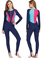 cheap -Women's Rash Guard Dive Skin Suit Quick Dry, Stretchy Nylon / Spandex Full Body Swimwear Beach Wear Diving Suit
