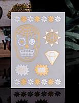 Недорогие -Trustfire 1 pcs Временные тату Временные татуировки Тату с тотемом Мини / Экологичные / Одноразового использования Искусство тела Корпус / руки / рука / Стикер татуировки