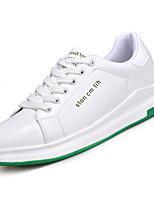 Недорогие -Муж. Полиуретан Лето Удобная обувь Кеды Белый / Черно-белый / Wit En Groen