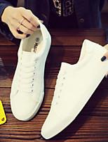Недорогие -Муж. Полиуретан Весна / Осень Удобная обувь Кеды Белый / Черный