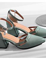 abordables -Femme Chaussures Polyuréthane Printemps Confort / Escarpin Basique Chaussures à Talons Talon Bottier Noir / Beige / Vert