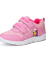 cheap -Girls' Shoes Mesh / PU(Polyurethane) Spring & Summer Comfort Athletic Shoes Walking Shoes Magic Tape for Teenager Purple / Pink