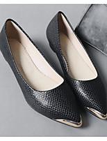 cheap -Women's Shoes PU(Polyurethane) Spring Comfort Flats Flat Heel White / Black / Red