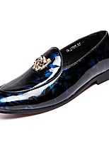 cheap -Men's Moccasin Pigskin Fall Loafers & Slip-Ons Black / Red / Blue