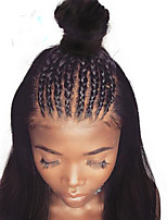 Недорогие -Не подвергавшиеся окрашиванию 360 Лобовой Парик Бразильские волосы Вытянутые Парик Глубокое разделение 150% Женский Нейтральный Жен. Длинные