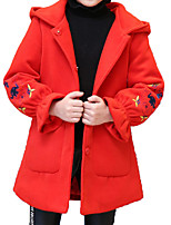 cheap -Kids Girls' Print Long Sleeve Jacket & Coat
