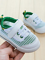 cheap -Boys' / Girls' Shoes Faux Leather Summer First Walkers Sneakers Magic Tape for Toddler White / Green / White / Blue