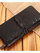 cheap -Men's Bags Cowhide Wallet Zipper Black / Yellow / Brown