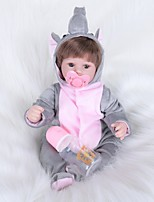 Недорогие -FeelWind Куклы реборн Девочки 16 дюймовый как живой, Гофрированные и запечатанные ногти, Искусственная имплантация Коричневые глаза Детские Девочки Подарок