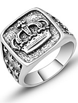 cheap -Men's Sculpture Ring - Crown Vintage, European, Trendy 7 / 8 / 9 Silver For Daily / Festival