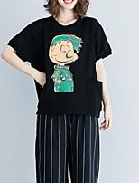 abordables -Tee-shirt Femme, Géométrique Imprimé Basique