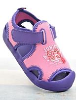 Недорогие -Девочки Обувь Полотно Лето Удобная обувь Сандалии На липучках для Дети Зеленый / Розовый