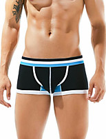 cheap -Men's Boxers Underwear Solid Colored / Letter Mid Waist