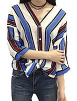 cheap -women's going out shirt - striped v neck