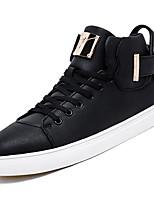 Недорогие -Муж. Полиуретан Зима Удобная обувь Кеды Белый / Черный