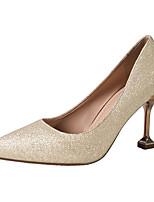 preiswerte -Damen Schuhe Mikrofaser Sommer Pumps High Heels Stöckelabsatz Spitze Zehe Gold / Silber / Rosa